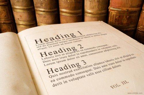 Headings in Books