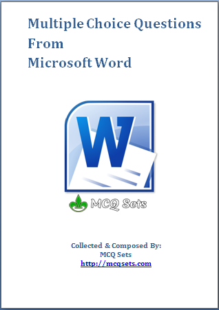 Download MS Word MCQ Bank in PDF format