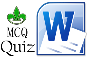 MS Word MCQ Quiz Set 03 – Word 2003 And 2007