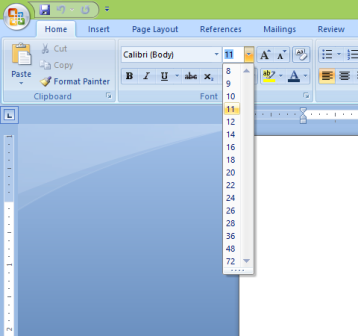 Font-Size-Word-2007