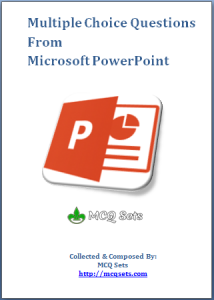 Microsoft PowerPoint MCQ Bank Cover Page