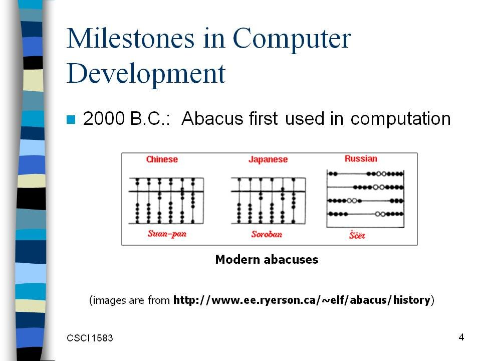 milestone in computer history essay Milestones in computer development webliography and credits designs and builds the first electronic digital computer his project was funded by a grant for 650.