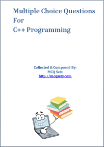 Download C++ MCQ Questions [PDF]
