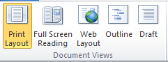 Document Views in Word 2010