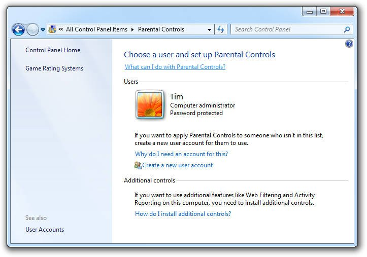 Parental Control Windows