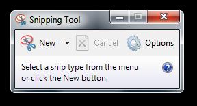 Snipping Tool Vista