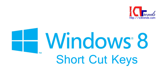 Windows 8 Short Cut Keys