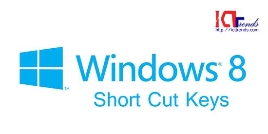 Windows 8 Short Cut Keys