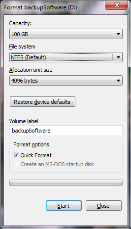 Windows Format Tool