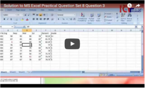 Solved Excel Practical Question from Set 8 Question 3 – Data Validation, Conditional Formatting & Nested IF
