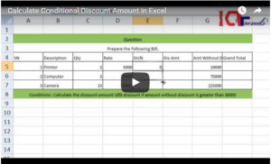 Excel Calculation – Conditional Discount [Video Solution]