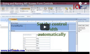 Sizing and Naming Access Form Controls [Video Tutorial]