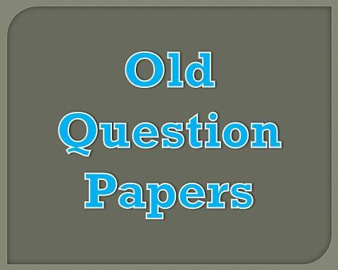 old-question-paper
