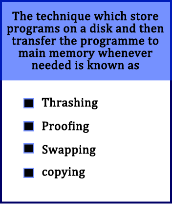 the-technique-which-store-programs-on-a-disk-and-then-transfer-the-programme-to-main-memory-whenever-needed-is-known-as