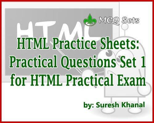 HTML Practical Questions Set 1 – Computer Operator Preparation Practice Sheet